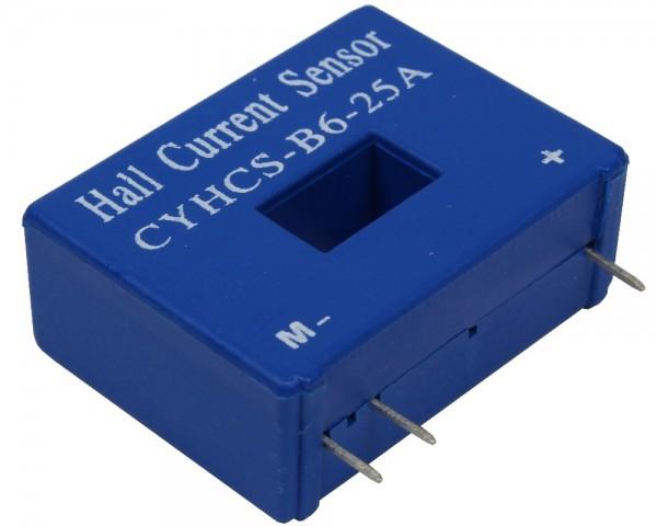 Closed Loop AC/DC Hall Current Sensor CYHCS-B6, Output: 25mA, Power Supply: ±12V~±15V DC, Window: 12.7x7