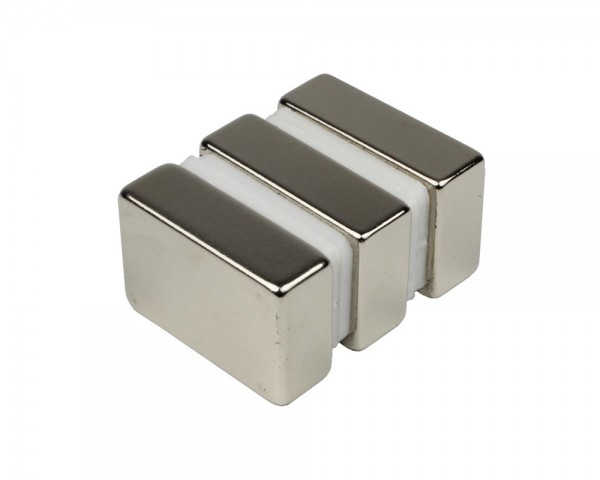 NdFeB Block Magnets, Dimensions: 30xWxH (Length>Width>Heigth) , Material grade: N38