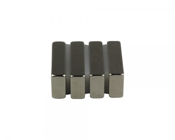 NdFeB Block Magnets, Dimensions: 20xWxH (Length>Width>Heigth) , Material grade: N38