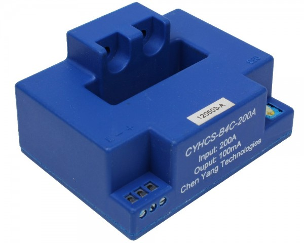 Closed Loop AC/DC Hall Current Sensor CYHCS-B4C, Output: 0mA ±0.5%, Power Supply: ±15 ~ ±24 VDC, Window: 41x12