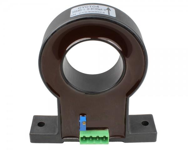 Unidirectional DC Leakage Current Sensor CYCT04-45S40, Output: 0-20mA DC, Power Supply: ±12V DC, Window: Ø40mm