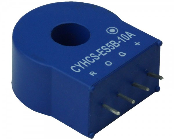 Closed Loop AC/DC Hall Current Sensor CYHCS-ES5B-25A, Output: +2.5V±1V, Power Supply: +5V, Window: 8.5mm