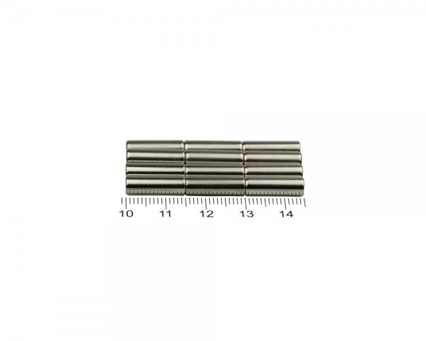 NdFeB Disc Magnets, Dimensions: Ø 5 x L (various lengths), Material grade: N38