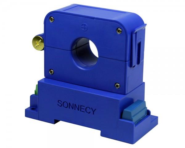 Bidirectional Digital Split Core Hall Effect DC/ AC Current Sensor CYHCD-S3K; Digital Output: Current I, Frequency F; Analogue Output: 2.5VDC±2.5VAC; Power Supply: +24V DC; Interface: RS485 MODBUS; Window: Ø 20 mm