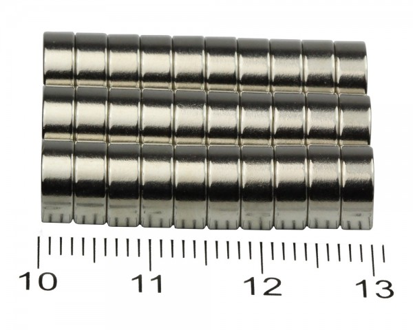 NdFeB Ring Magnets, Dimensions: Ø 40, ø 10 × L (various length), Material grade: N38