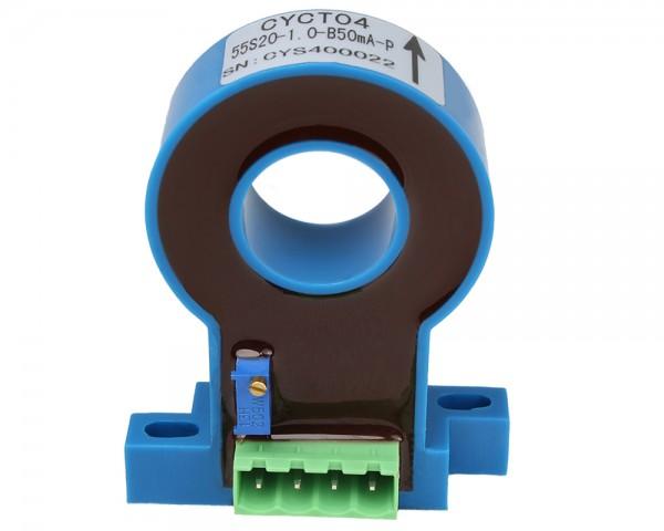 Bidirectional DC Leakage Current Sensor CYCT04-25S20, Output: ±20mA DC, Power Supply: ±12V DC, Window: Ø20mm