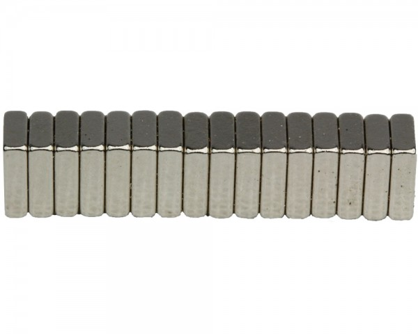 NdFeB Block Magnets, Dimensions : 7xWxH (Length>Width>Heigth) , Material grade: N38