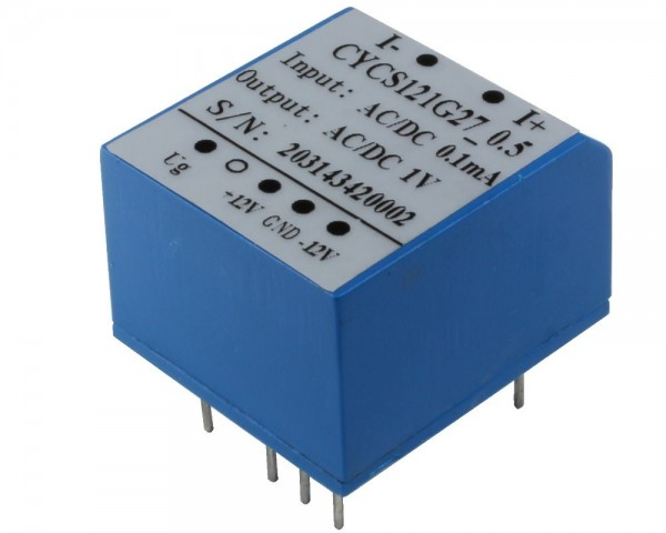 AC/DC Current Sensor CYCS121G27, Output: instantaneous voltage 0-1V AC/DC, Power Supply: ±12V DC