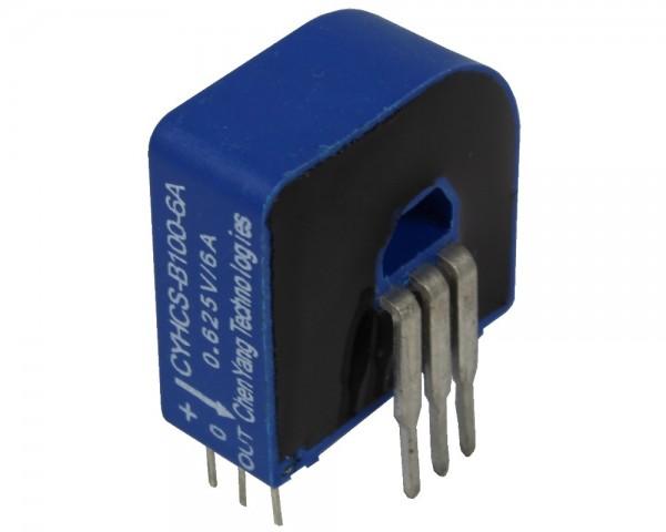 Closed Loop AC/DC Hall Current Sensor CYHCS-B100, Output: 2.5±0.625V, Power Supply: +5V, Window: 6.6x4.3