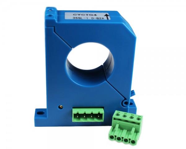 Split Core DC Current Sensor CYCT04-16SL, Output: tracing voltage ±5V DC, Power Supply: ±15V DC, Window: Ø33mm