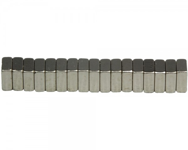 NdFeB Block Magnets, Dimensions : 5xWxH (Length>Width>Heigth) , Material grade: N38
