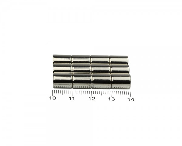 NdFeB Disc Magnets, Dimensions: Ø 7 x L (various lengths), Material grade: N38