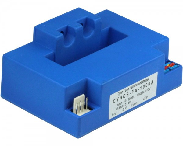 Hall Effect Current Sensor CYHCS-FA, Output: ±4V AC/DC, Power Supply: ±12~±15 V DC, Window: 51x13