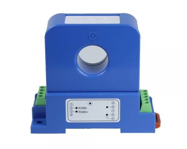 Unidirectional Digital DC Current Sensor CYCTD-S3; Digital Output: Current I; Analogue Output: 0-5V DC; Power Supply: +12 V DC; Interface: RS485 MODBUS; Window: Ø 20 mm