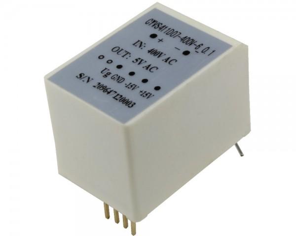 AC Voltage Sensor CYVS411D07-m-5, Output: instantaneous voltage 0-5V AC, Power Supply: ± 12V DC