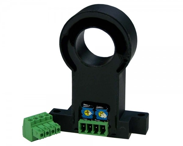 Hall Effect AC Current Sensor CYHCS-C1TV, Output: 0-10 V DC, Power Supply: +24 V DC, Window: Ø 20 mm, Connector: Phoenix